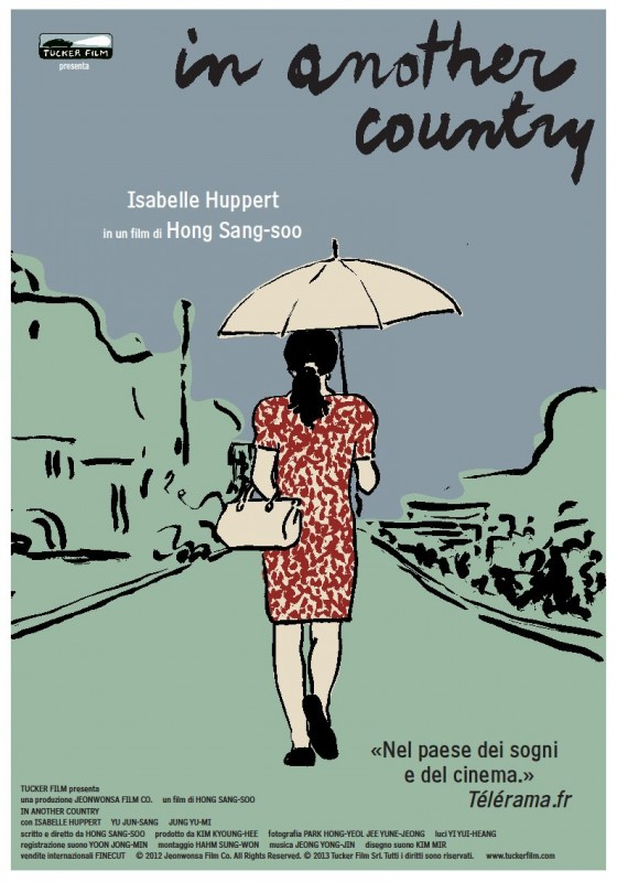 Locandina italiana del film In Another Country di Hong Sang-soo