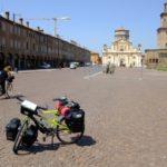 La Bici nella piazza centrale di Carpi