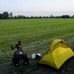 Campeggio in un campo prima di Mantova