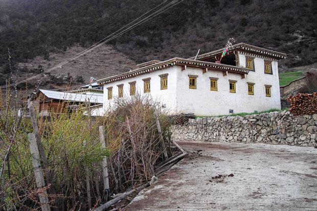 Un'abitazione in tipico stile tibetano