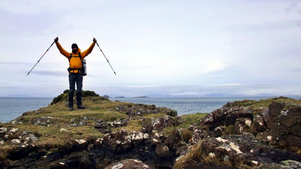 Philipp sull'ultimo scoglio a nord di Skye